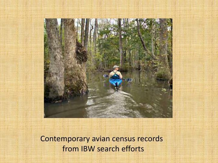 Contemporary avian census records
