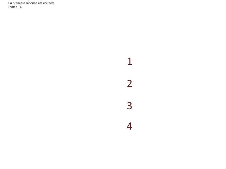 La première réponse est correcte (notée 1).