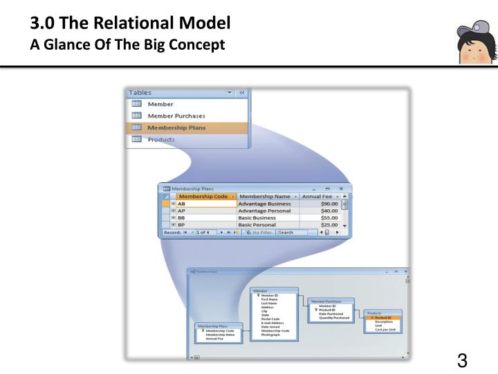 3 0 the relational model a glance of the big concept