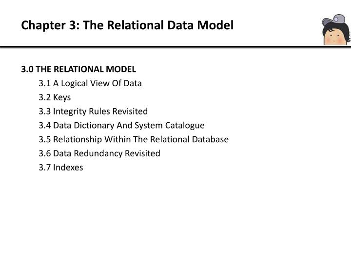Chapter 3: The Relational Data Model
