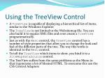 using the treeview control