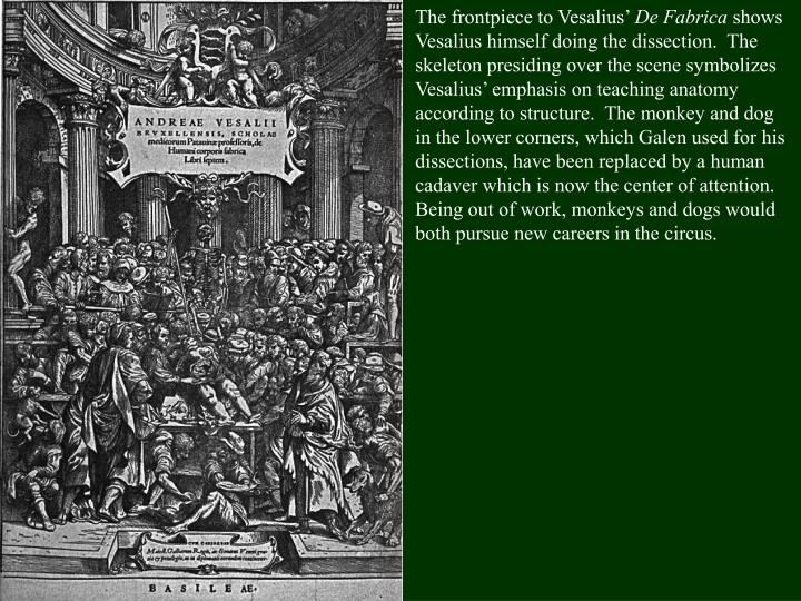 The frontpiece to Vesalius'