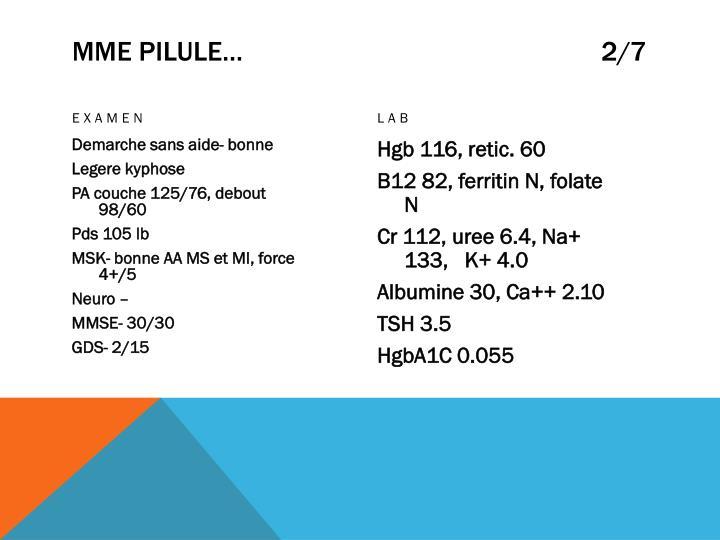 MME PILULE…                                                   2/7