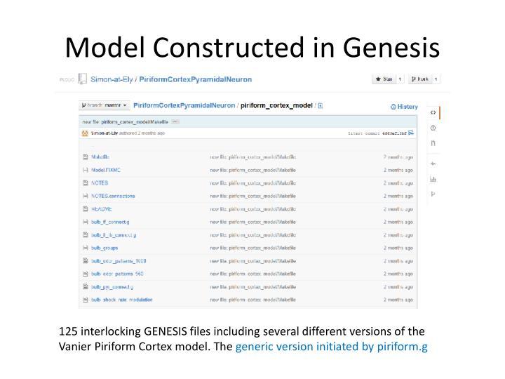 Model Constructed in Genesis