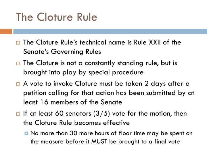The Cloture Rule