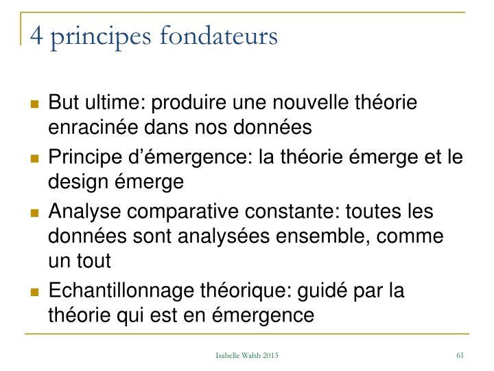 4 principes fondateurs