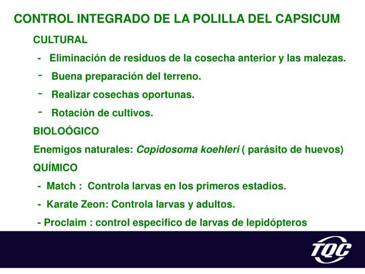 CONTROL INTEGRADO DE LA POLILLA
