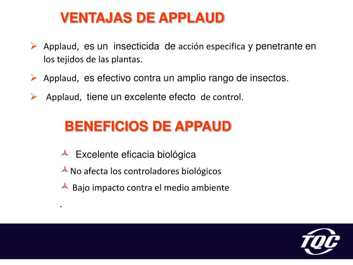 VENTAJAS DE APPLAUD