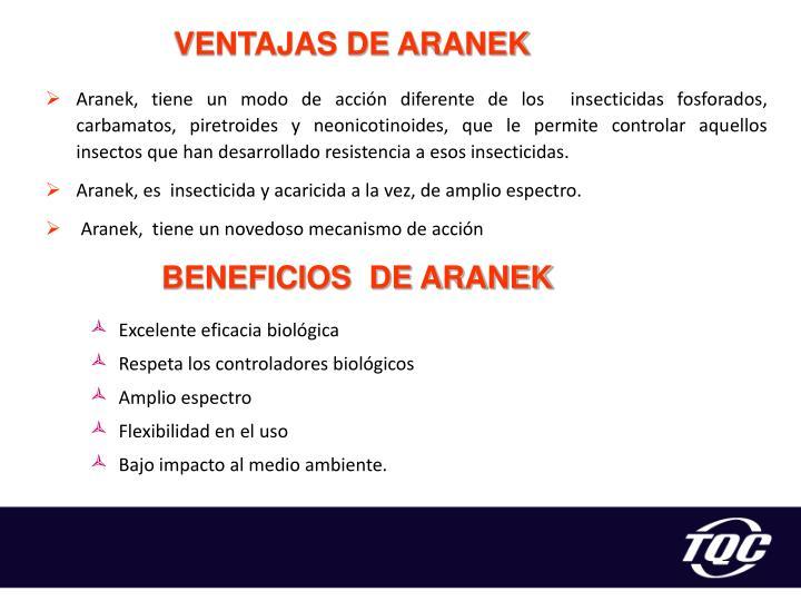 VENTAJAS DE ARANEK