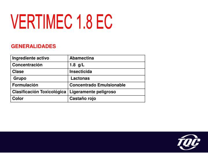 VERTIMEC 1.8 EC