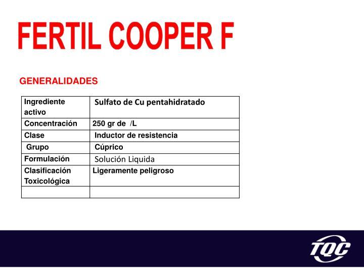 FERTIL COOPER F