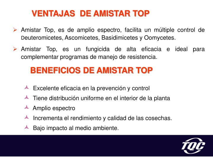 VENTAJAS  DE AMISTAR TOP