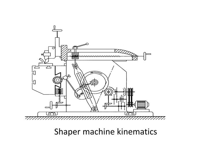 Shaper machine kinematics