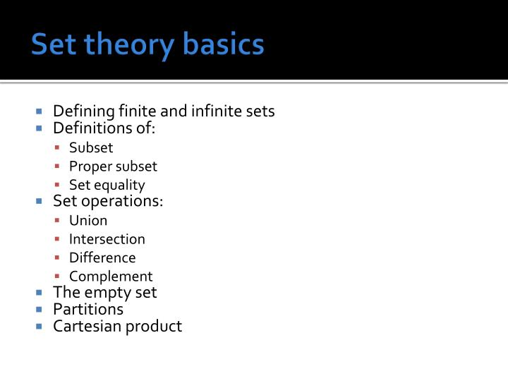 Set theory basics