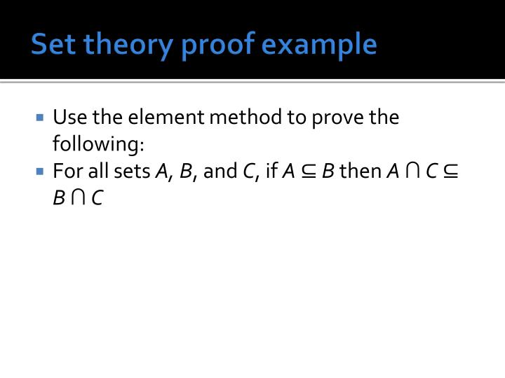 Set theory proof example