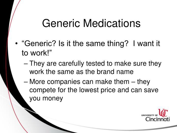 Generic Medications