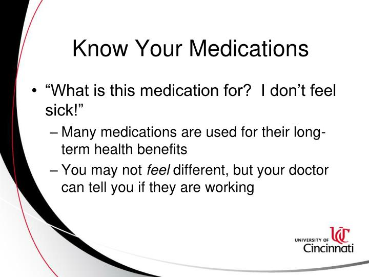 Know Your Medications
