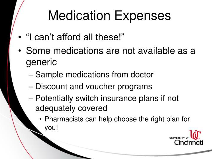 Medication Expenses