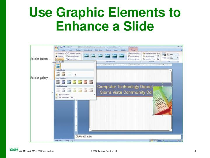 Use Graphic Elements to Enhance a Slide
