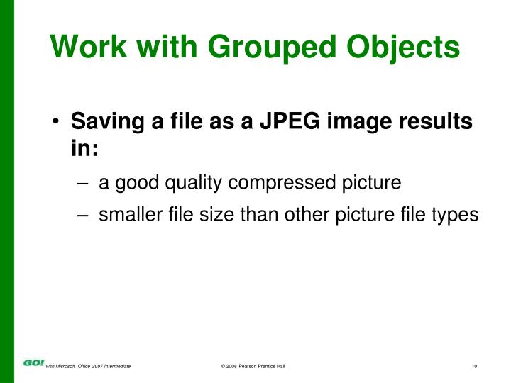Saving a file as a JPEG image results in: