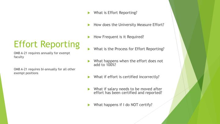 What is Effort Reporting?