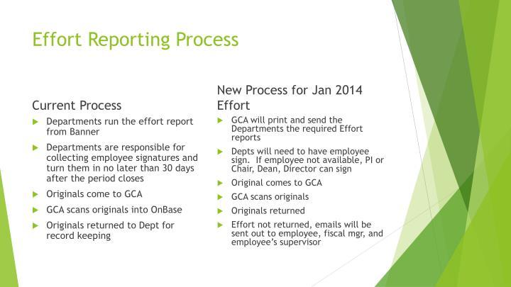 Effort Reporting Process