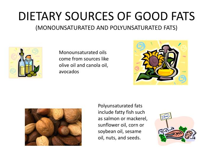 DIETARY SOURCES OF GOOD FATS