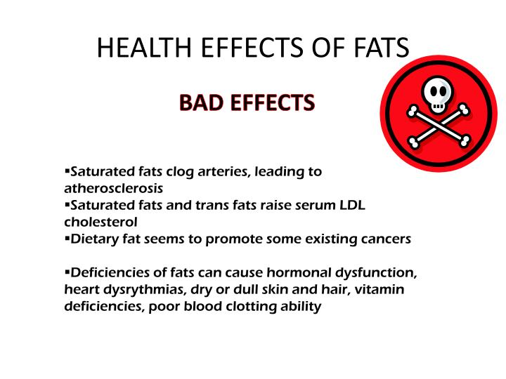 HEALTH EFFECTS OF FATS