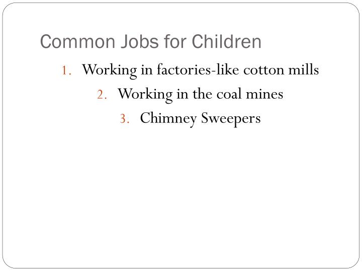 Common Jobs for Children