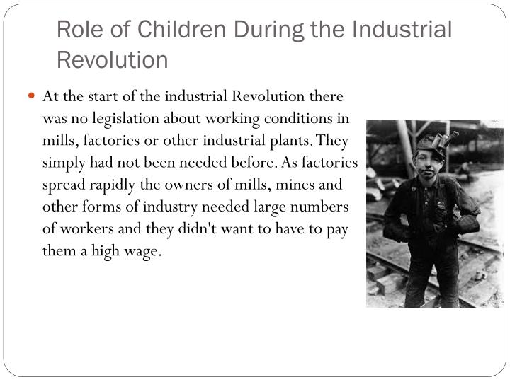 Role of children during the industrial revolution