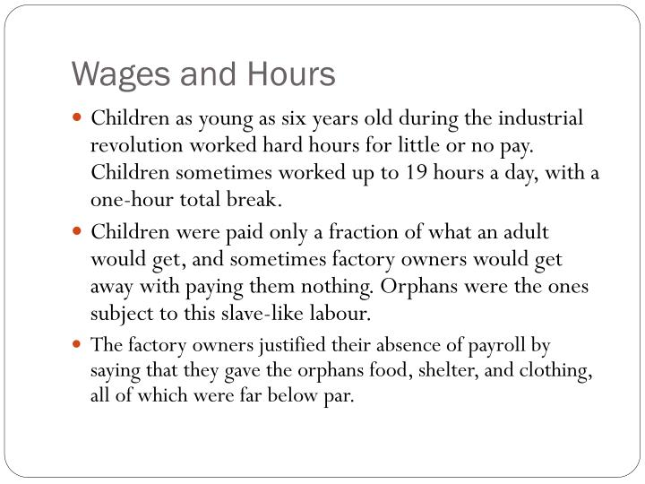 Wages and Hours