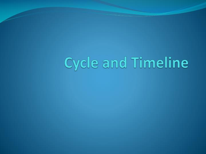 Cycle and Timeline