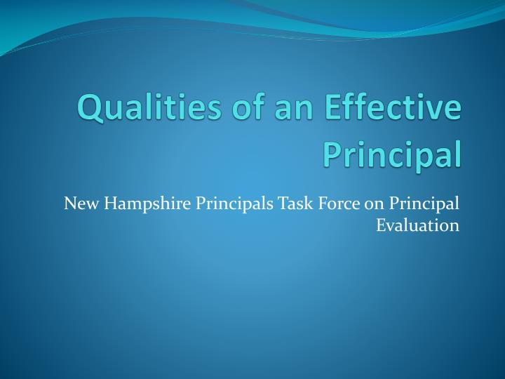 Qualities of an Effective Principal