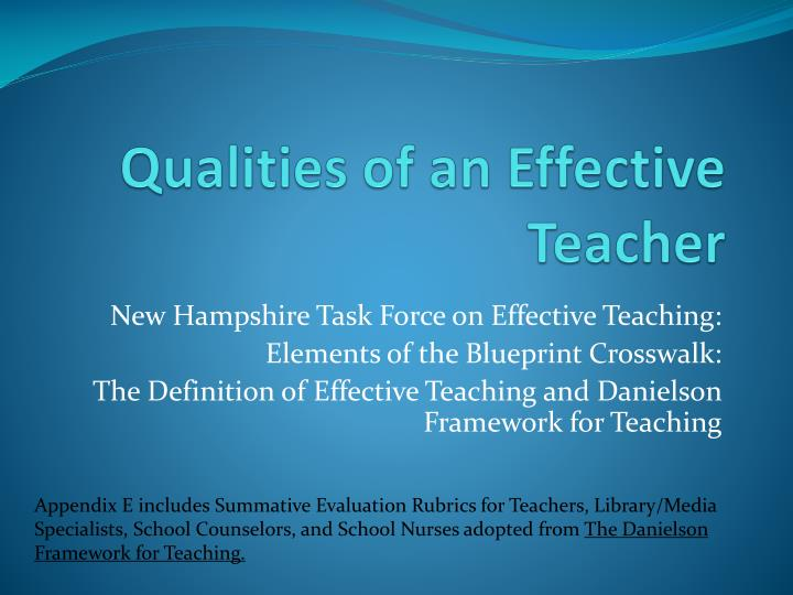 Qualities of an Effective Teacher