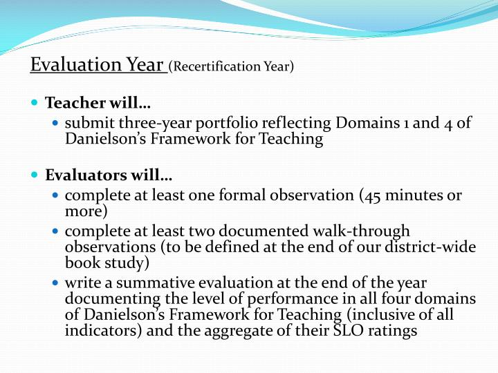 Evaluation Year