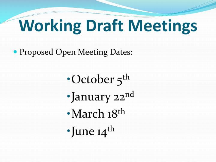 Working Draft Meetings