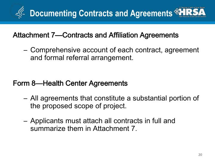 Documenting Contracts and Agreements