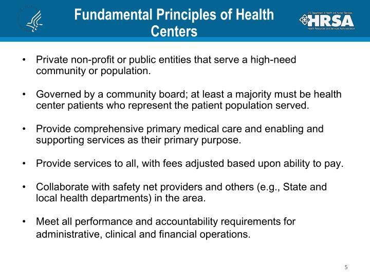 Fundamental Principles of Health Centers