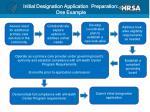 initial designation application preparation one example