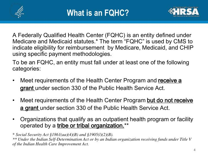 What is an FQHC?