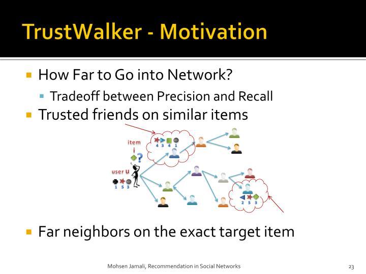 TrustWalker - Motivation