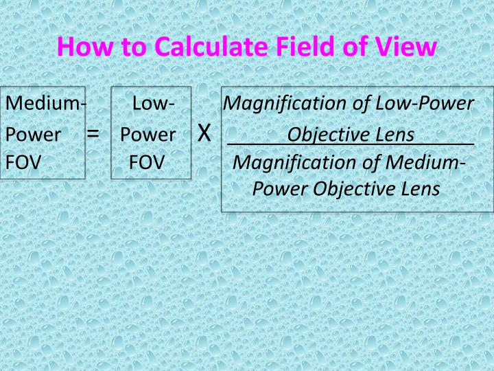 How to Calculate Field of View