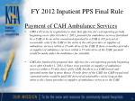 fy 2012 inpatient pps final rule