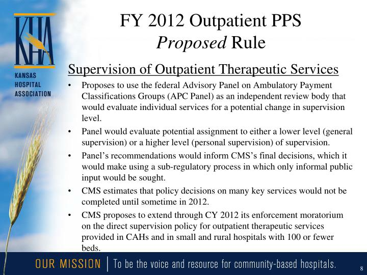 FY 2012 Outpatient PPS