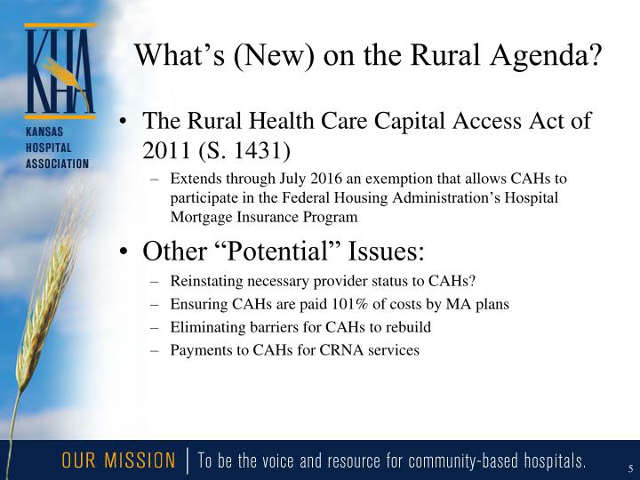 What's (New) on the Rural Agenda?