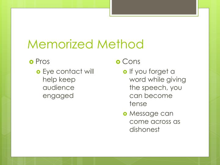 Memorized Method