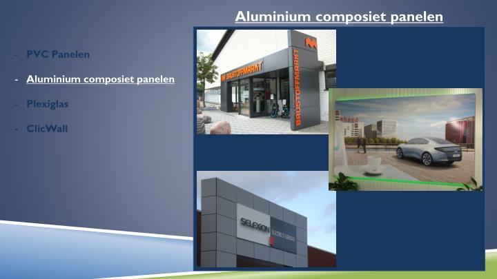 Aluminium composiet panelen
