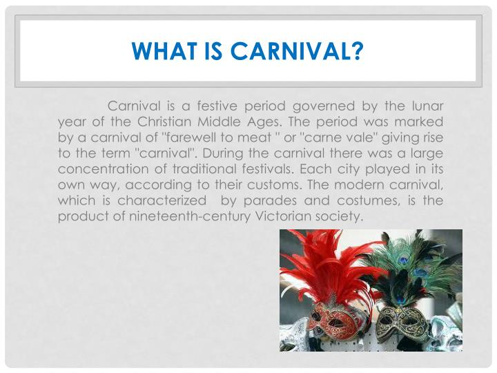 What is carnival