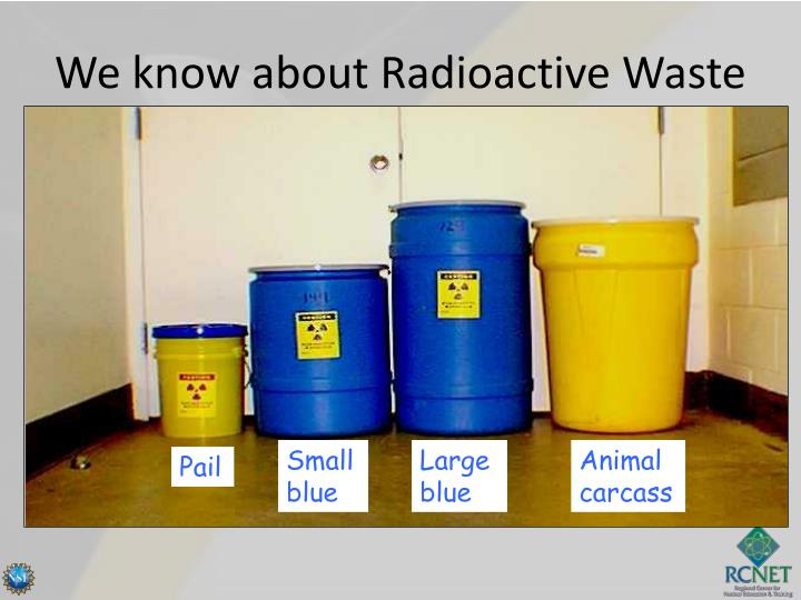 We know about Radioactive Waste