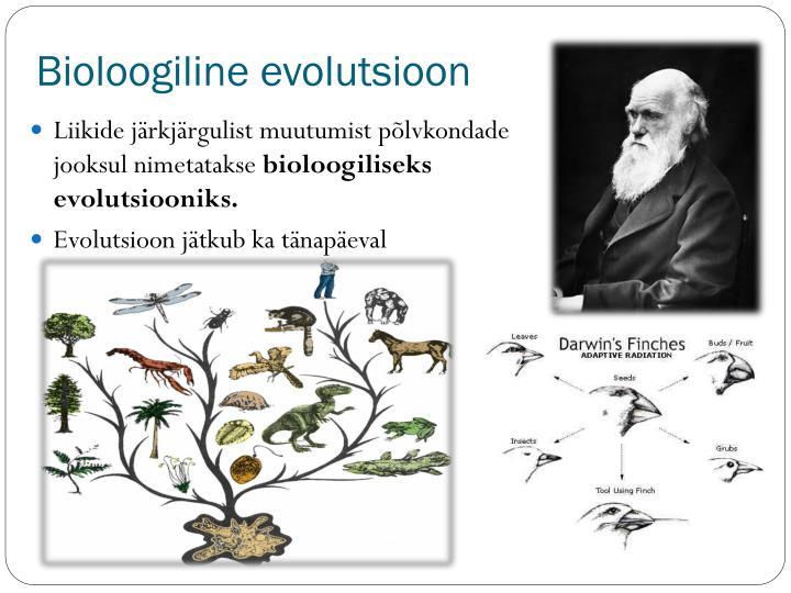 Bioloogiline evolutsioon